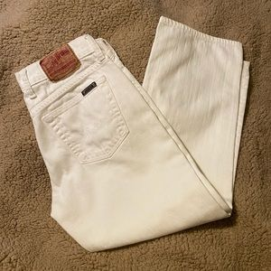 Lucky Brand | white crop jean